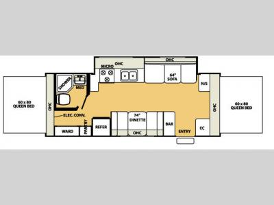 Floorplan - 2007 Forest River RV Shamrock 23SS