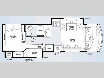 Floorplan - 2008 Winnebago Vista 32K