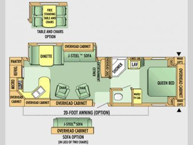 Floorplan - 2008 Jayco Jay Flight G2 31 RKS