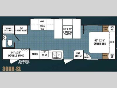 Floorplan - 2008 Dutchmen RV Kodiak 30BH-SL