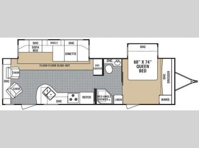 Floorplan - 2008 Dutchmen RV Tundra 31RL-DSL