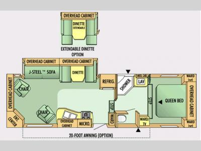 Floorplan - 2008 Jayco Eagle Super Lite 30.5 RLS