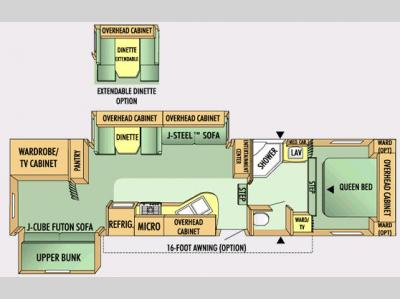 Floorplan - 2008 Jayco Eagle Super Lite 31.5 BHDS