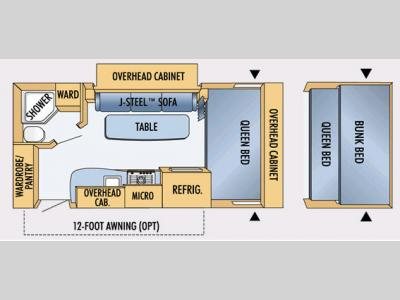 Floorplan - 2008 Jayco Jay Feather Sport 199