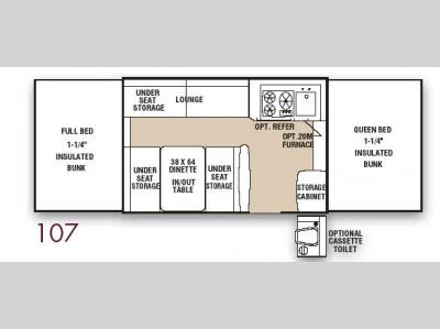 Floorplan - 2008 Coachmen RV Clipper 107