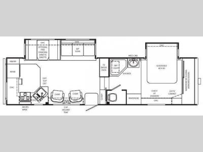 Floorplan - 2008 Holiday Rambler Savoy LX 29 RKD