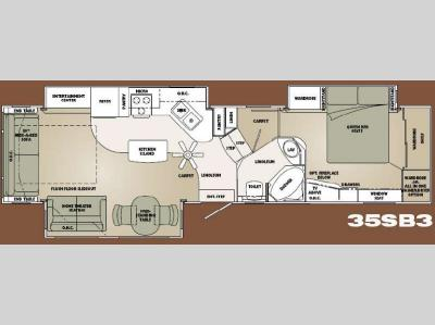 Floorplan - 2008 Carriage Cameo F35SB3