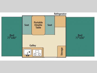 Floorplan - 2008 Fleetwood RV Destiny Sedona