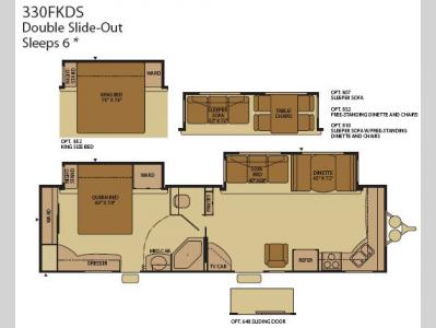 Floorplan - 2008 Fleetwood RV Terry 330FKDS