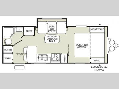 Floorplan - 2008 Fleetwood RV Pegasus 240FQS