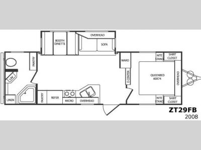 Floorplan - 2008 CrossRoads RV Zinger ZT29FB