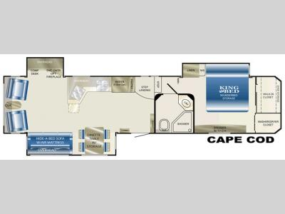 Floorplan - 2008 Heartland Landmark Cape Cod