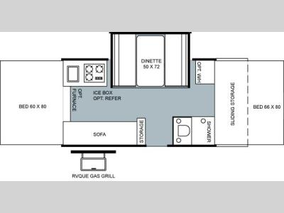 Floorplan - 2004 Forest River RV Rockwood 2516 G
