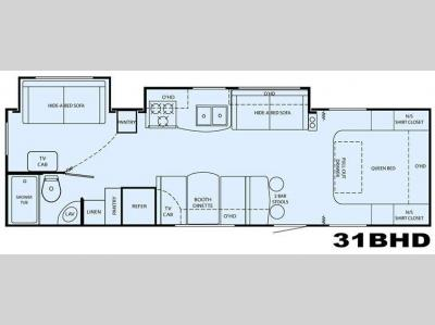 Floorplan - 2008 Heartland North Trail 31BHD