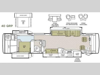 Floorplan - 2008 Tiffin Motorhomes Allegro Bus 40 QRP