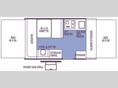 Floorplan - 2008 Forest River RV Rockwood Premier 1904