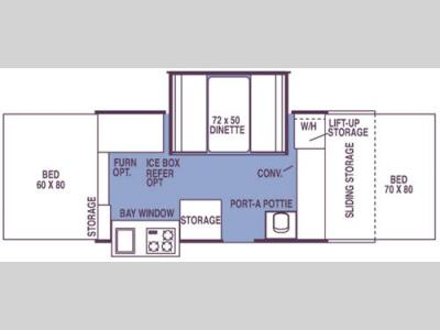 Floorplan - 2008 Forest River RV Rockwood Premier 2514G