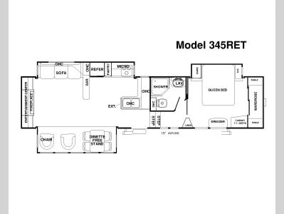 Floorplan - 2008 Forest River RV Sandpiper 345RET