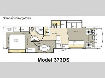 Floorplan - 2007 Forest River RV Georgetown 373DS