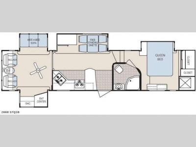 Floorplan - 2008 Dutchmen RV Grand Junction 37QSB