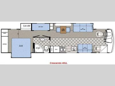 Floorplan - 2008 Gulf Stream RV Crescendo 40UL