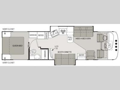 Floorplan - 2008 Four Winds RV Hurricane 33T