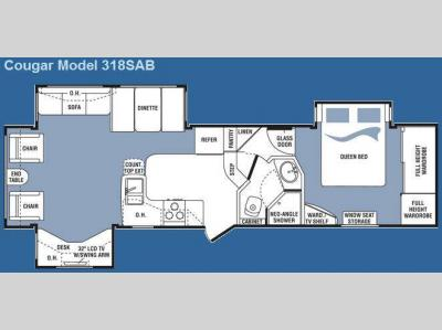 Floorplan - 2008 Keystone RV Cougar 318SAB