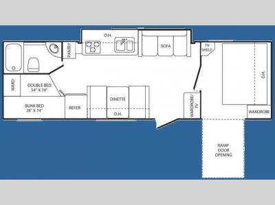 Floorplan - 2008 Keystone RV Outback 29KBH