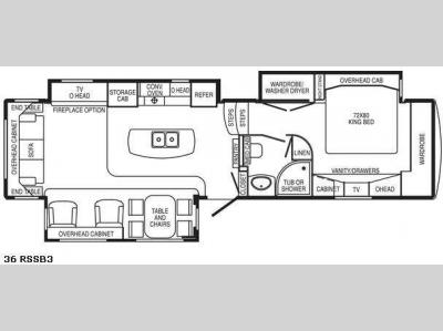 Floorplan - 2008 DRV Luxury Suites Mobile Suites 36 RSSB3