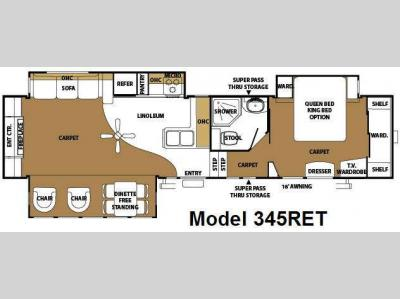 Used 2008 forest river rv sierra 345ret fifth wheel at for Table 6 north canton oh