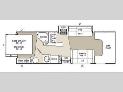 Floorplan - 2009 Coachmen RV Freelander 2700RS