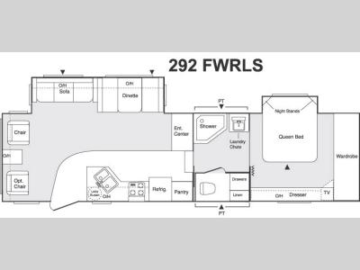 Floorplan - 2005 Keystone RV Sprinter 292FWRLS