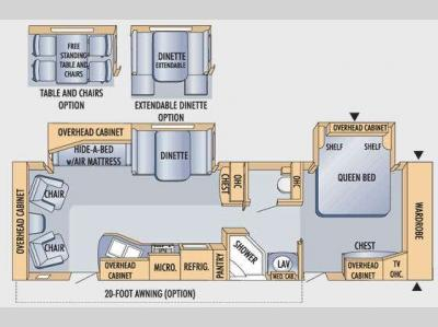 Floorplan - 2009 Jayco Eagle 320RLDS