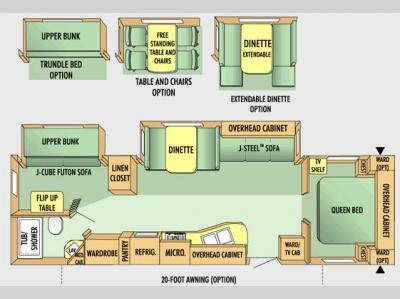 Floorplan - 2009 Jayco Jay Flight G2 31BHDS