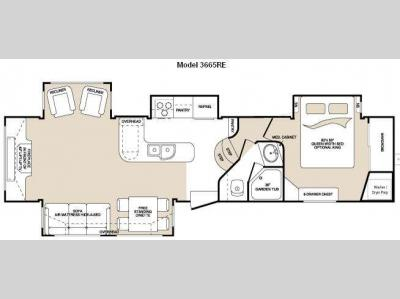 Floorplan - 2009 Keystone RV Montana 3665 RE