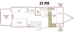 Floorplan - 2005 Keystone RV Outback 23RS