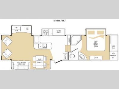 Floorplan - 2009 Keystone RV Everest 344J