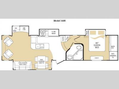 Floorplan - 2009 Keystone RV Everest 348R