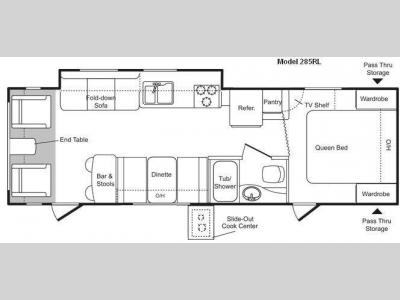 Floorplan - 2009 Keystone RV Passport 285RL
