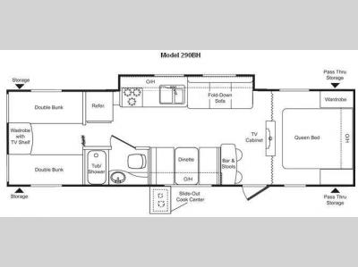 Floorplan - 2009 Keystone RV Passport 290BH