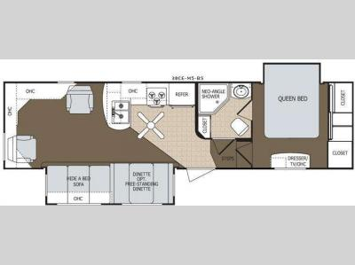 Floorplan - 2009 Dutchmen RV Colorado 30CE-M5-BS