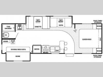Floorplan - 2009 Forest River RV Cherokee Lite 28A Plus