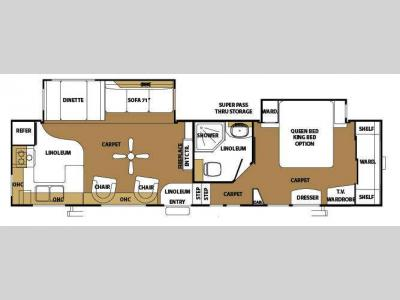 Floorplan - 2008 Forest River RV Sandpiper 305RGS