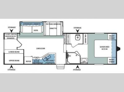 Floorplan - 2008 Forest River RV Sandpiper West 285BH