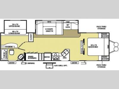 Floorplan - 2009 Forest River RV Wildwood LE 29BHBS