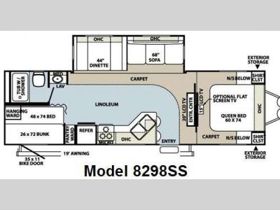 Floorplan - 2008 Forest River RV Rockwood Signature Ultra Lite 8298SS