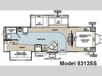 Floorplan - 2008 Forest River RV Rockwood Signature Ultra Lite 8313SS
