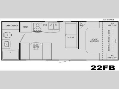 Floorplan - 2009 Heartland North Country 22FB