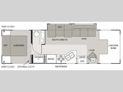 Floorplan - 2009 Four Winds RV Four Winds 5000 31P