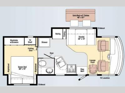 Floorplan - 2009 Winnebago Vista 26P